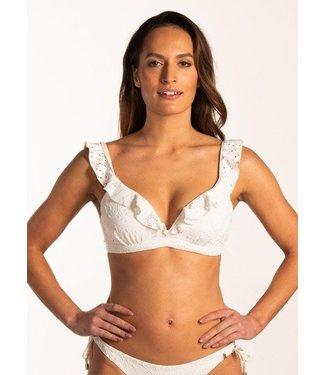 Beachlife Blanc De Blanc Padded Ruffle Bikinitop