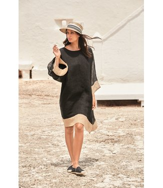 Iconique Aruba Maxi Kaftan Linen Deluxe Black