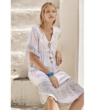 Iconique Elena 3/4 Sleeve Dress Mykonos Party Light Blue
