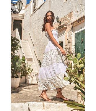 Iconique Joy Bandeau Maxi Dress White Nights White