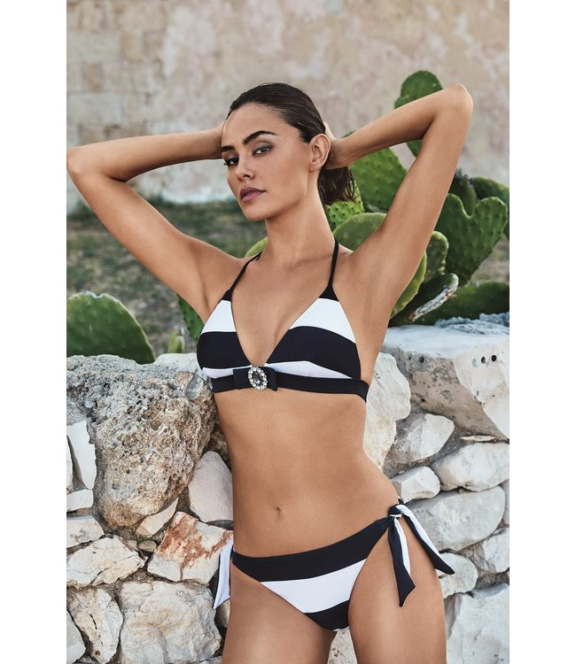 DavidBeach Tulip Bikiniset Geometric Chic White Black