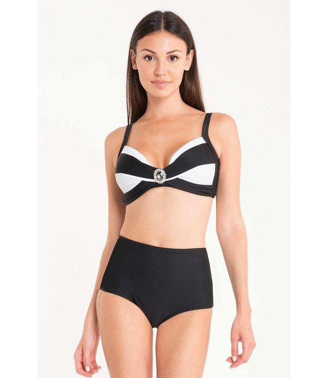 DavidBeach Clara Bikiniset Geometric Chic White Black