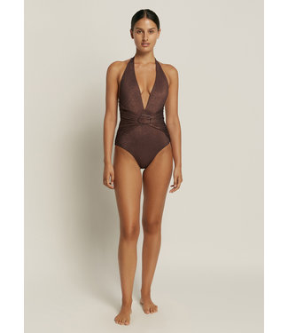 Jets Swimwear Paloma Plunge Badpak Black Copper