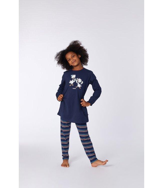 Woody 212-1-BLB-S/885 Meisjes-Dames pyjama