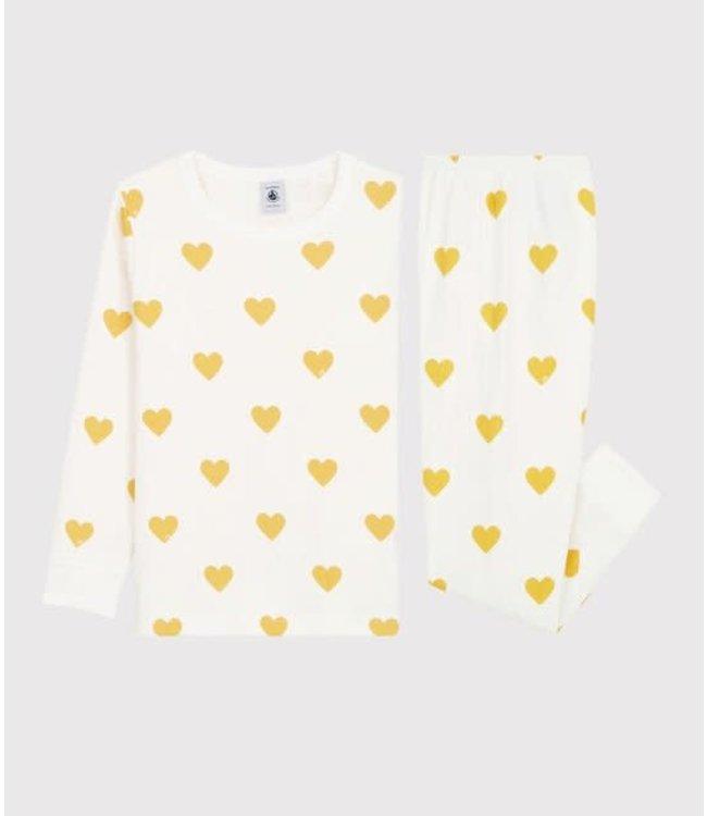 Petit Bateau Jongens/ Meisjes Pyjama Ocre