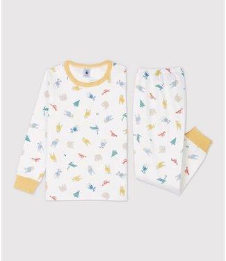 Petit Bateau Meisjes/ Jongens Pyjama Marshmallow