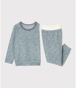 Petit Bateau Jongens/ Meisjes Pyjama Sedumblue