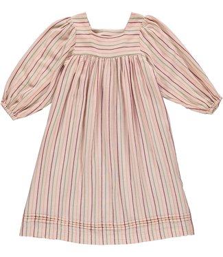 Dorélit Kleedje Febe Woven Stripe Pink