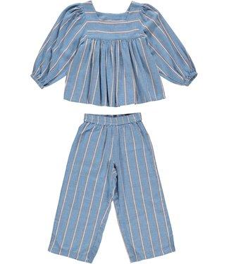Dorélit Pyjamaset Kids Faith Alkes Stripe Blue