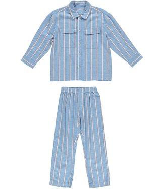 Dorélit pyjamaset Floor Venus Stripe Blue