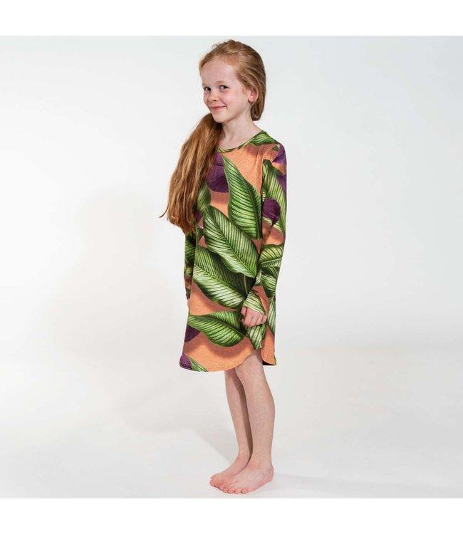 Snurk Fresh Leaves Long Sleeve Dress Kids