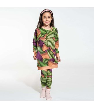 Snurk Fresh Leaves Sweater Dress Kids