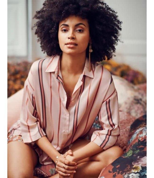 Essenza Dionne Meryl Pyjama Top 3/4 Sleeve Rose