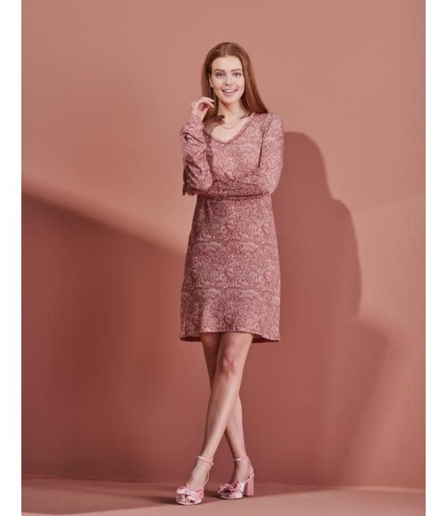 Essenza Emmy Halle Nightdress Long Sleeve Rose