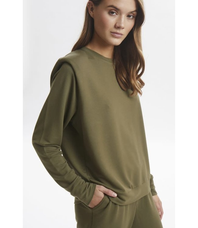 Lounge Nine Kira Shoulderpad Sweatshirt Tarmac