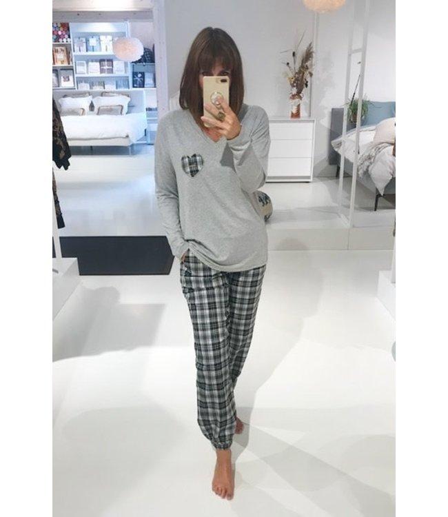 Twin-Set Damespyjama Check Rigio Melange