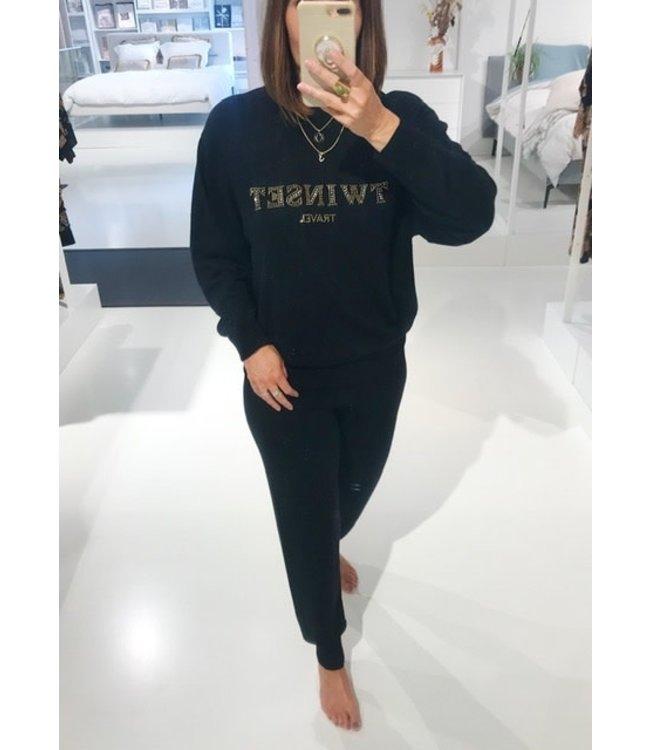 Twin-Set Leisurewear Logo Twinset Black