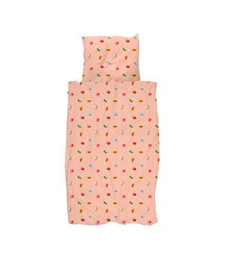 Snurk Macarons Pink Donsovertrek