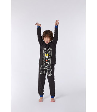 Woody 212-1-PLE-Z/193Jongens-Heren pyjama