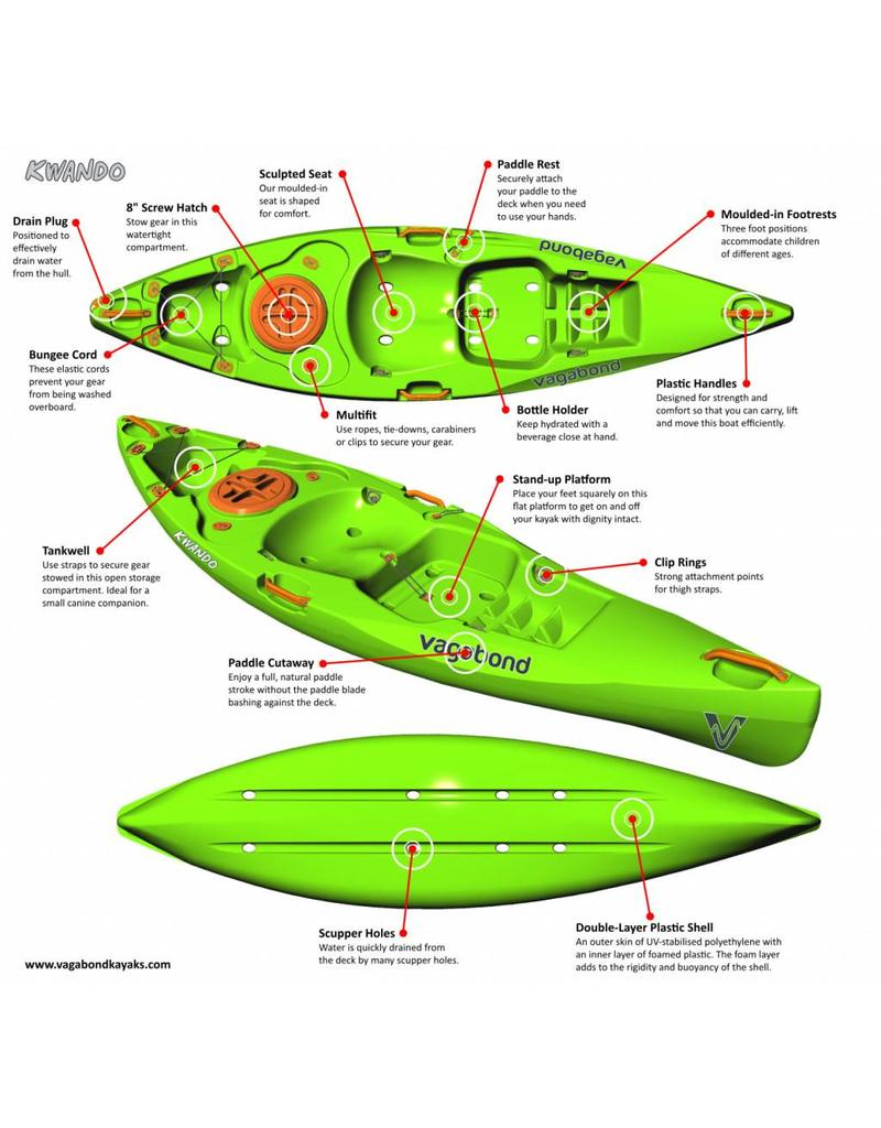 Vagabond Kayaks Kwando - Nu incl. Peddel