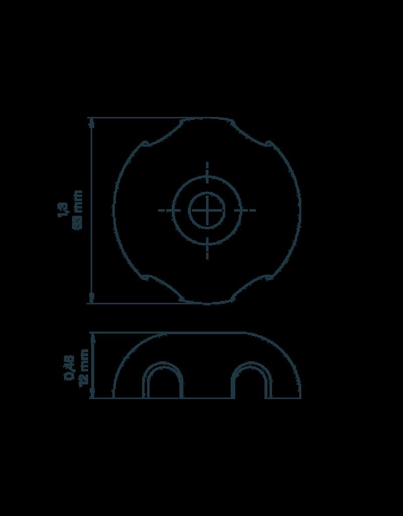 Kajaksport Deckfitting 34/11 - 5mm (set 4 stuks)