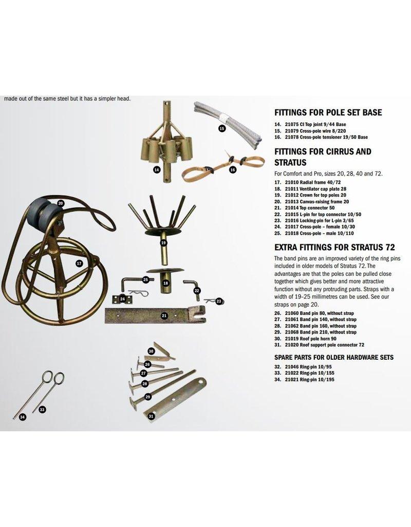 tentipi 21620 Cross Pole Wire Set 6/180, 9 pcs
