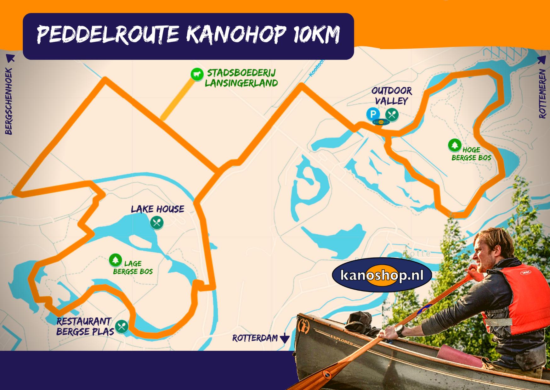 Peddelroute Kanoshop 10km