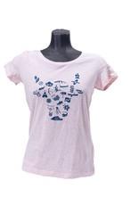 Outdoor Valley t-shirt roze - Dames
