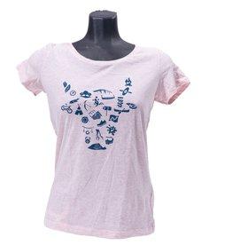 OV Vrije tijd t-shirt roze - Dames