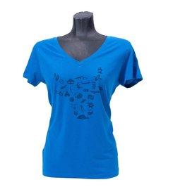 OV Vrije tijd t-shirt blauw - Dames
