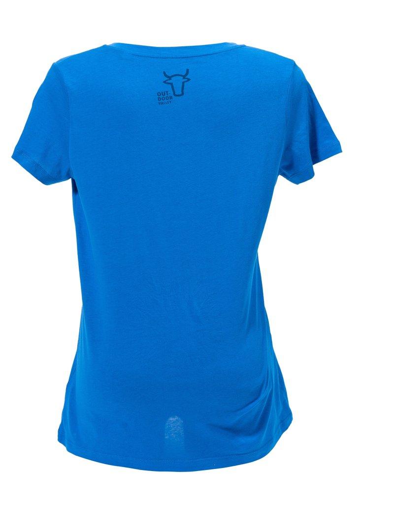 Outdoor Valley T-shirt blauw - Dames