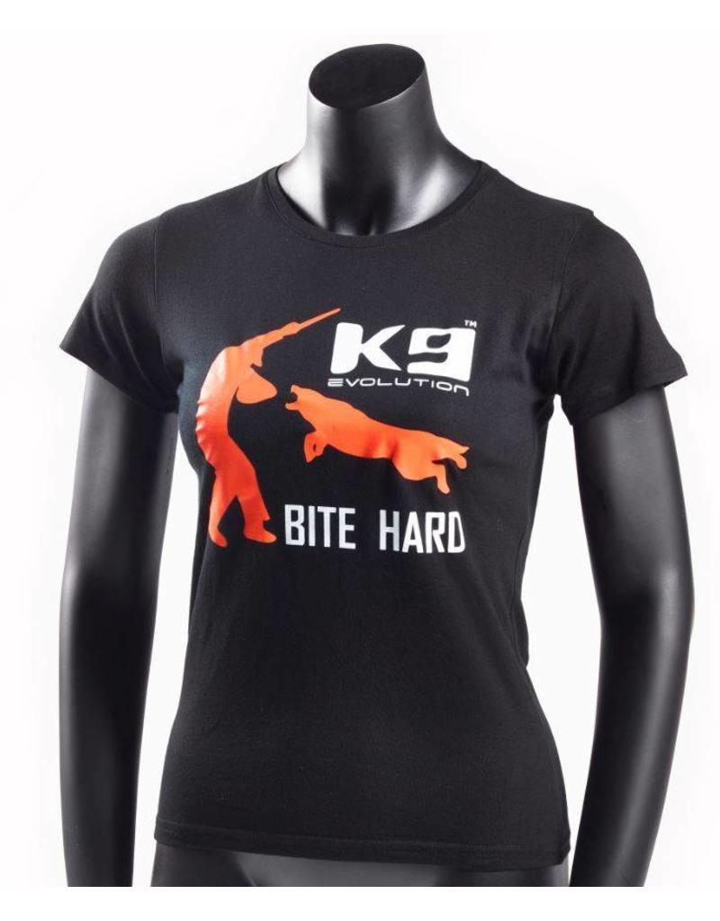 K9 Evolution T-shirt Lady K9 Bite Hard