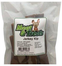 Meat & Treats  Vleesstrips Kip Jerkey