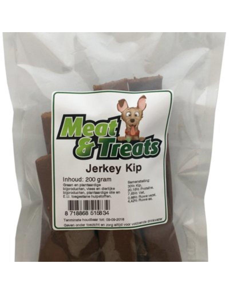 Meat & Treats  Vleesstrips Kip Jerkey 200 gr