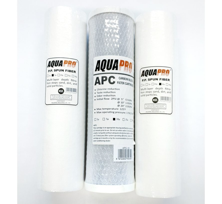 AquaPro APC-10 Actieve kool filter - 10 Micron