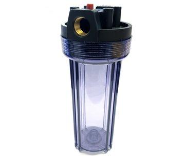 Aquapro AquaPro 10'' Waterfilterbehuizing - Transparant - Metalen Fitting