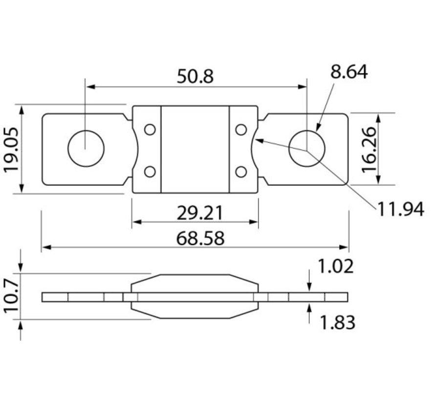 Zekering 125A MEGA (12-24V)
