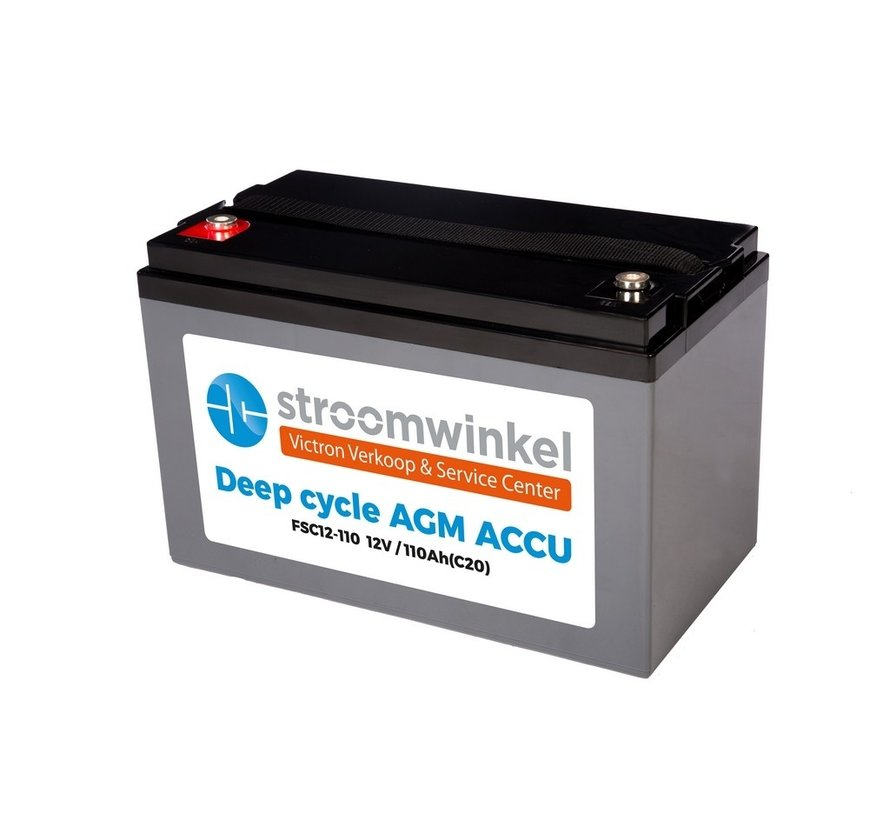 Stroomwinkel AGM Accu 12V-110Ah (C20) insert M8