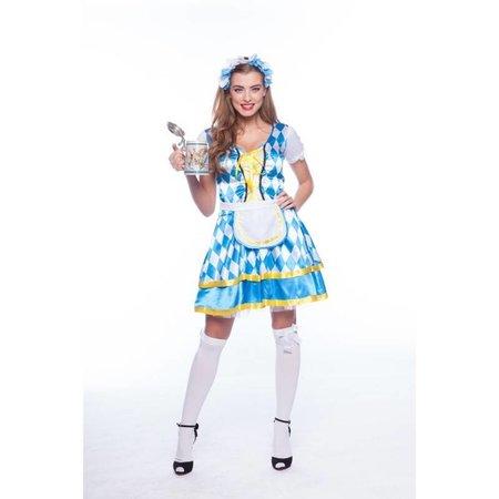Tiroler jurkje blauw oktoberfest