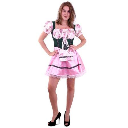 Tiroler jurk roze/groen Agnet