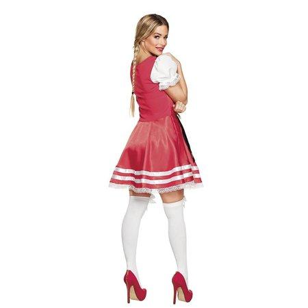 Tiroler jurk Helena rood
