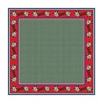 Tiroler sjaal edelweis rood/groen