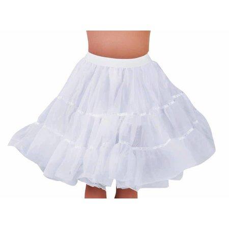 Petticoat kniehoogte wit met elastiek
