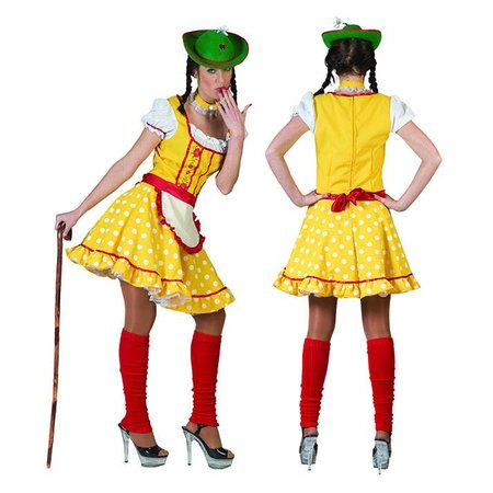 Tiroler outfit babet geel