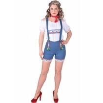 Tiroler hotpants dames lederhose