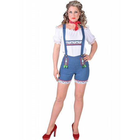 Tiroler hotpants dames lederhose