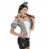 Tiroler blouse zwart/wit