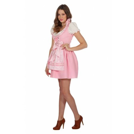 Roze Dirndl dames luxe
