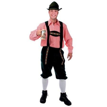 Tiroler kleding: Lederhose groen