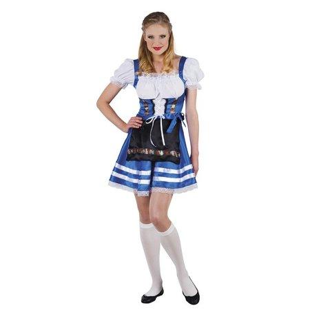 43368feb9bd1b7 Tiroler jurkje Helena blauw